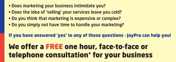 JayPro offers a FREE 1 hour marketing consultation